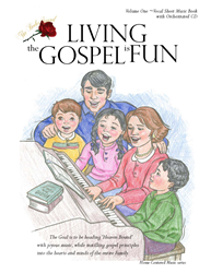 LIVING THE GOSPEL IS FUN ~ Sing-Along with Vocal Sheet Music Book and Orchestrated CD