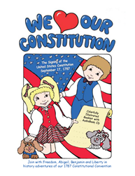 We Love our Constitution, THE SIGNING ~ Colorful Booklet with audiobook CD